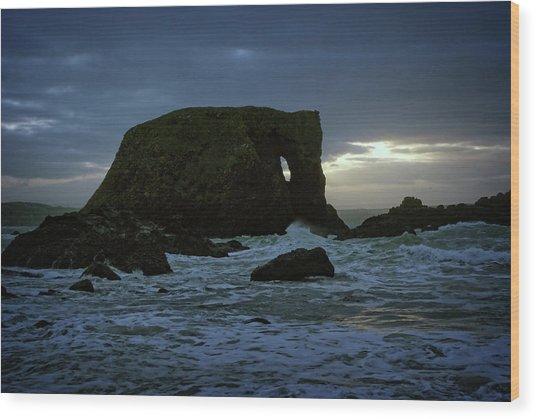 Sunset At Elephant Rock Wood Print