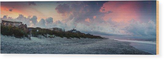 Sunset Emerald Isle Crystal Coast Wood Print