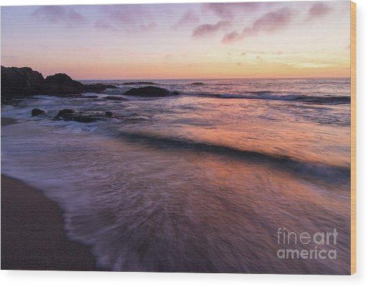 Sunset Over Laguna Beach   Wood Print