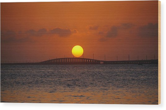 Sunset Seven Mile Bridge Wood Print