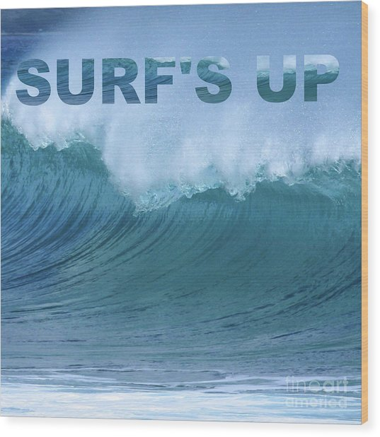 Surf's Up Wood Print
