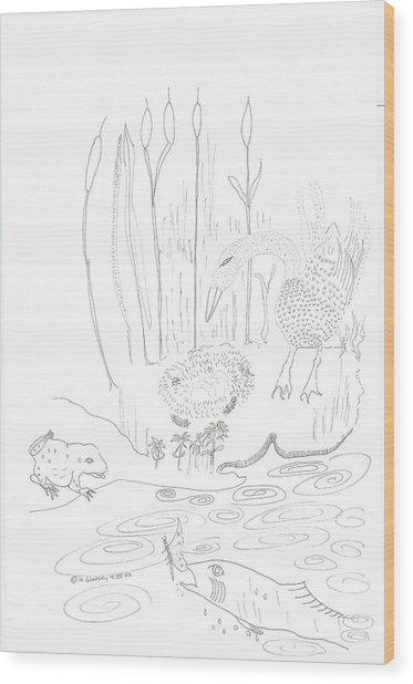 Swan Eggs Wood Print