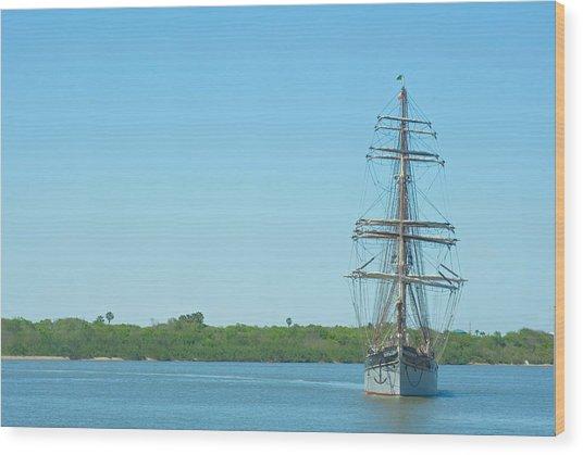 Tall Ship Elissa Wood Print