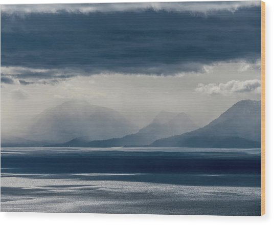 Tallac Stormclouds Wood Print