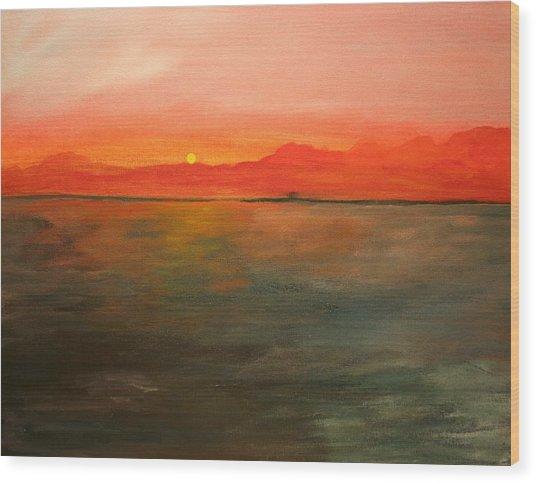 Tangerine Sky Wood Print by Julie Lueders