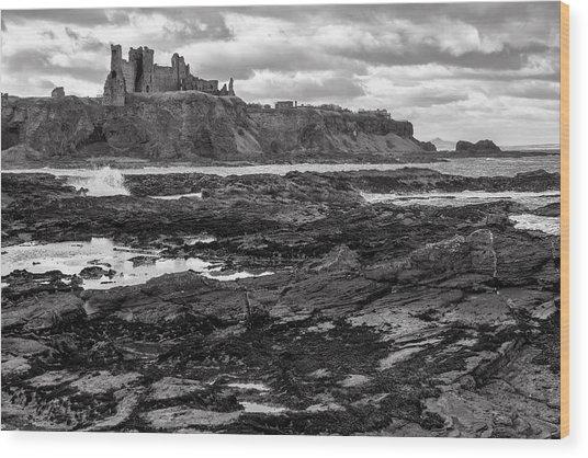 Tantallon Castle Wood Print