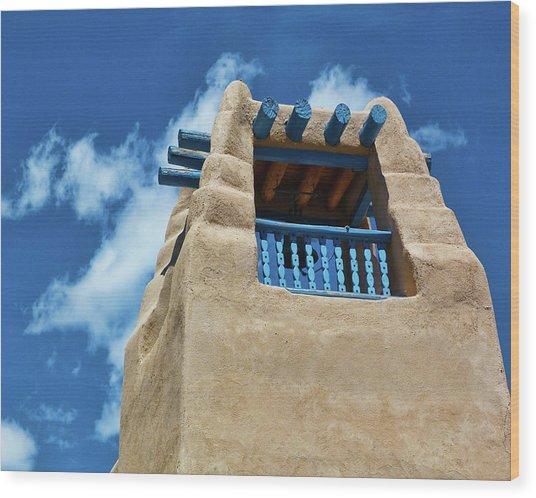 Taos Blue Wood Print