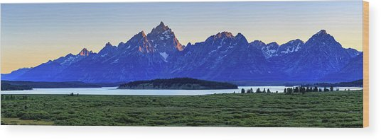 Teton Sunset Wood Print