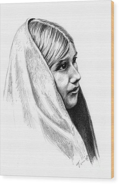 Tewa Girl Wood Print