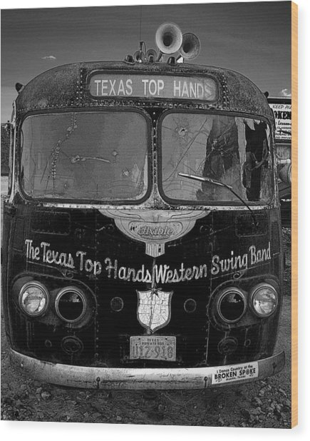 Texas Top  Hands Wood Print