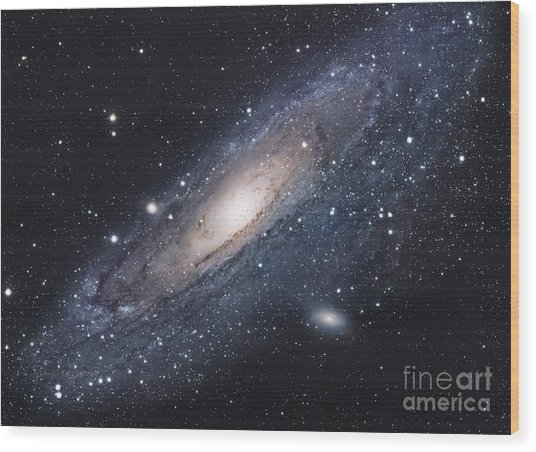 Wood Print featuring the photograph The Andromeda Galaxy by Robert Gendler