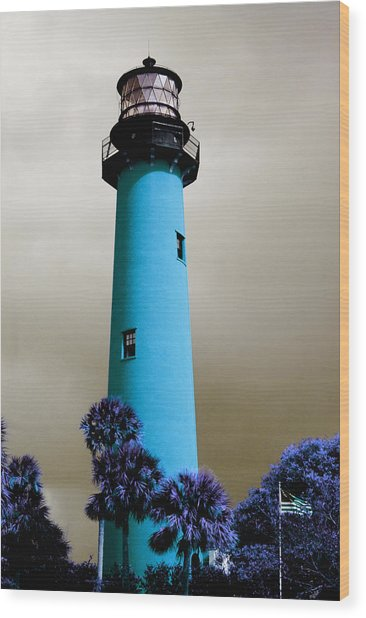 The Blue Lighthouse Wood Print