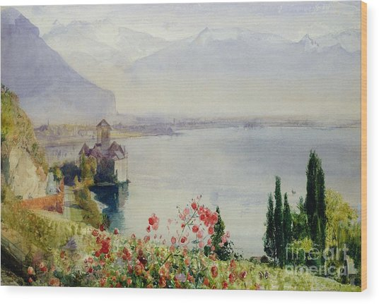 The Castle At Chillon Wood Print