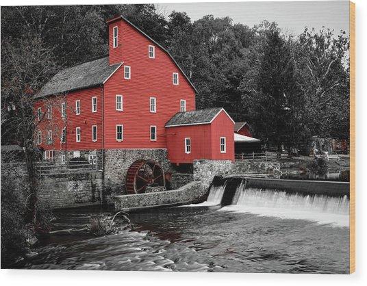 The Clinton Mill Wood Print