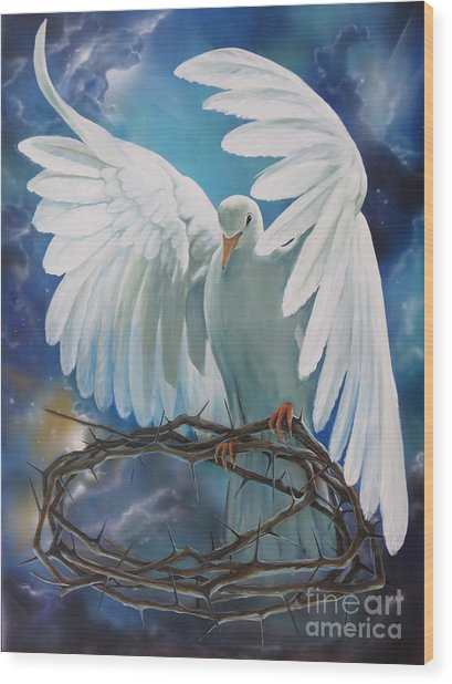 The Dove Wood Print