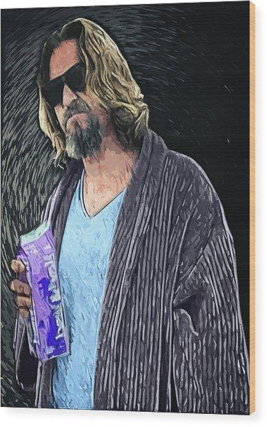 The Dude Wood Print