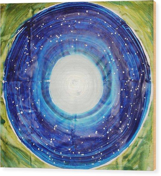 The Eternal Circle Wood Print by Baljit Chadha