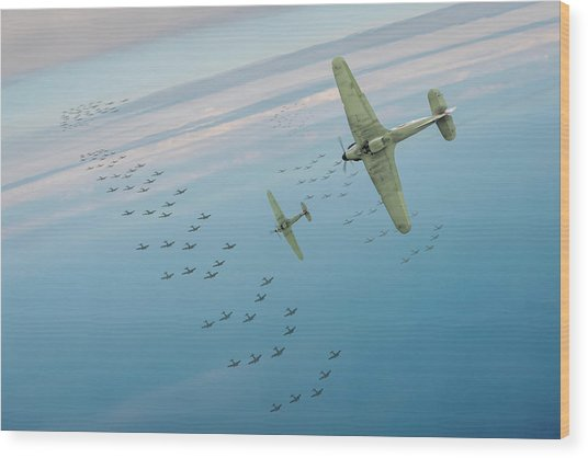 Wood Print featuring the photograph The Few by Gary Eason