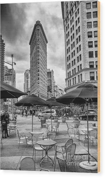 The Flatiron Building Wood Print