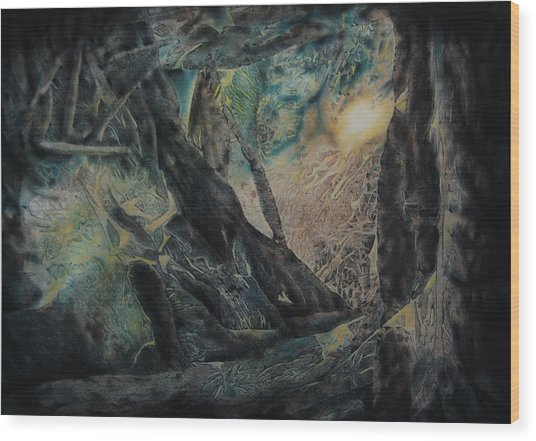 The Glow Will Guide Me Wood Print by Shirley McMahon