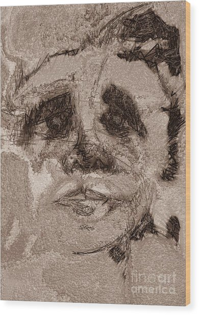 The Grieving Man Wood Print