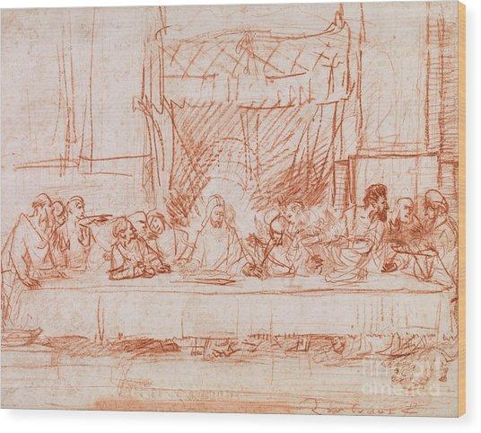 The Last Supper, After Leonardo Da Vinci Wood Print