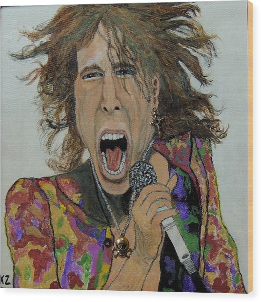 The Madman Of Rock.steven Tyler. Wood Print