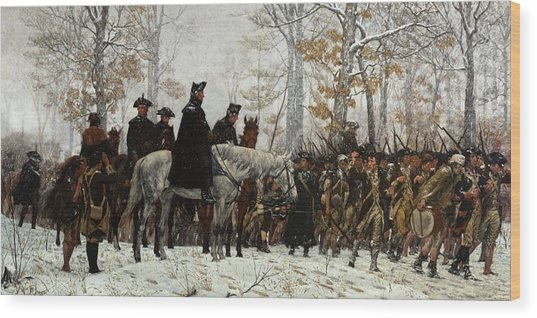 The March To Valley Forge Wood Print