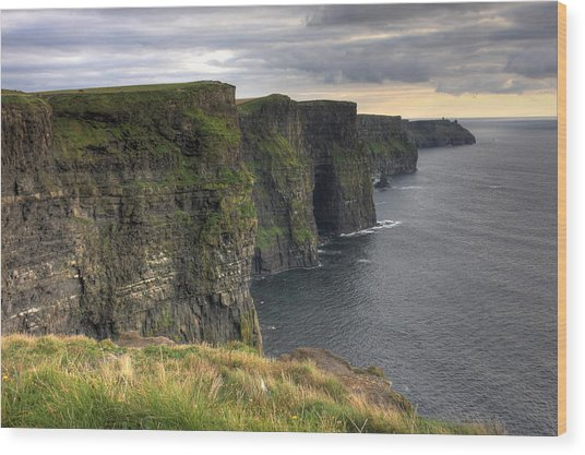 The Mighty Cliffs Of Moher In Ireland Wood Print