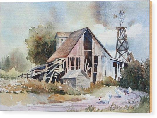 The Old Barn Wood Print by Bobbi Price