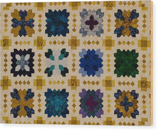 The Patchwork Of The Crosses Wood Print
