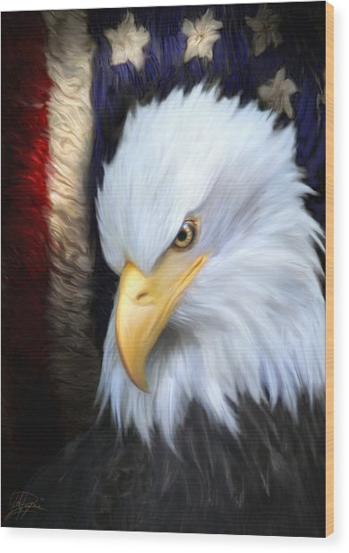 The Patriot Wood Print