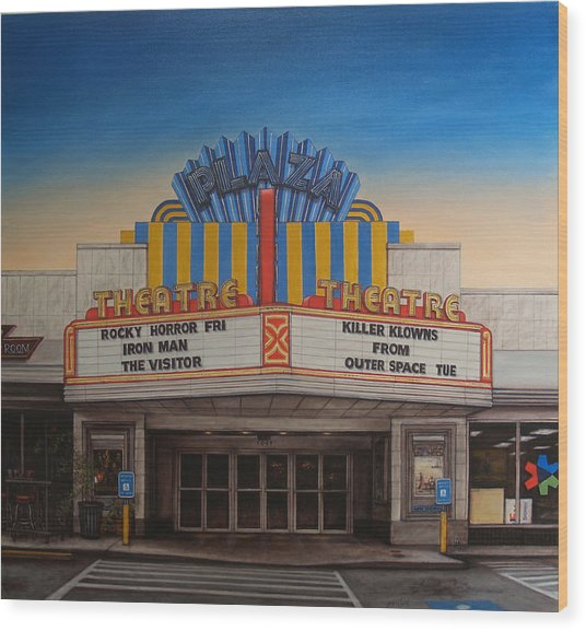 The Plaza Wood Print by Rick McClung