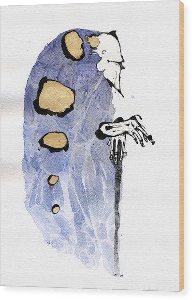 The Prophet Three Wood Print by Mark M  Mellon