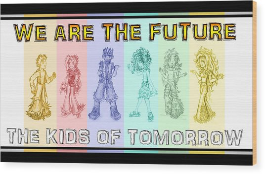 Wood Print featuring the drawing The Proud Kids Of Tomorrow 3 by Shawn Dall
