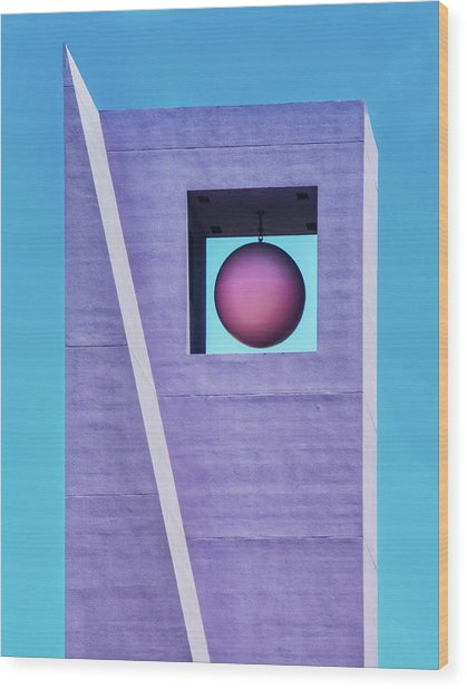 The Purple Tower At Pershing Square Wood Print