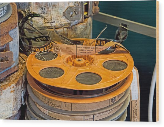 The Reel Thing  Wood Print