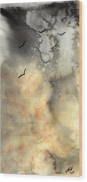 The Storm Wood Print by Joyce Ann Burton-Sousa