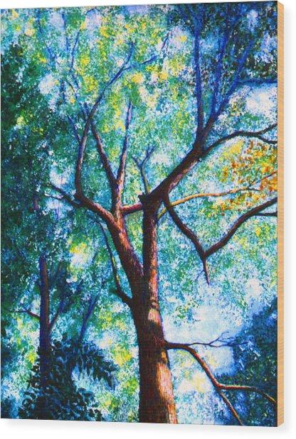 The Tree Wood Print by Stan Hamilton