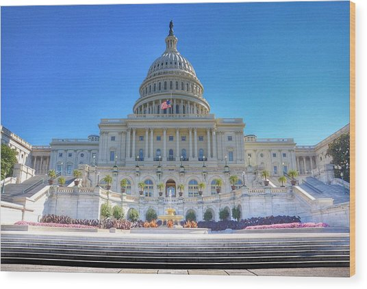 The Us Capitol Building - Washington D.c. Wood Print