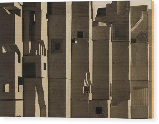 The Wall 2 Wood Print by David Umemoto