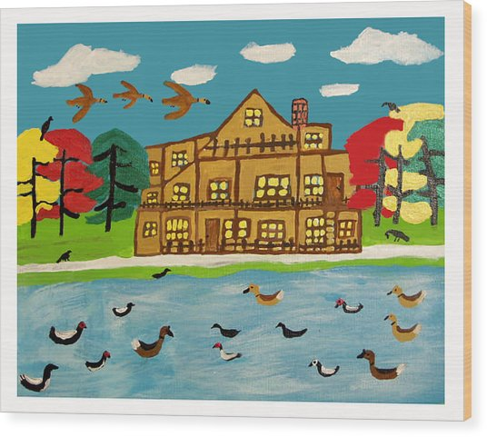 The Wildlife Hotel Wood Print by Betty  Roberts