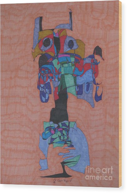 Thunderbird Wood Print by James Sheppardiii