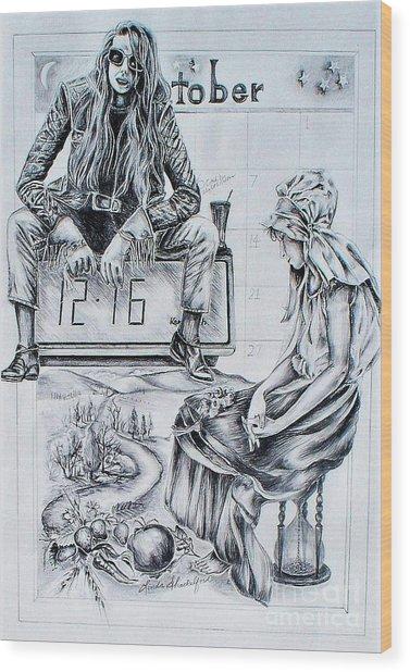 Time Between Women Wood Print