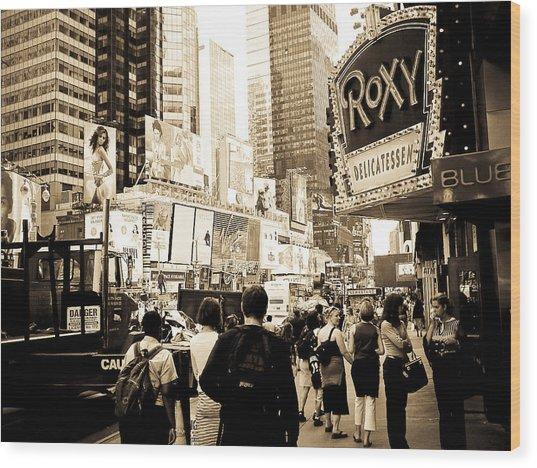 Times Square New York Wood Print