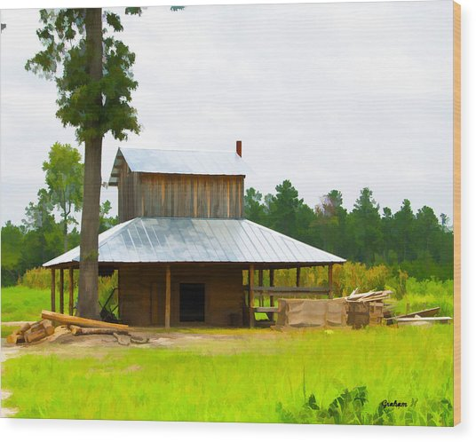 Tobacco barn painting by dwayne graham for Tobacco barn house plans