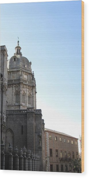 Toledo Cathedral In Sight Wood Print