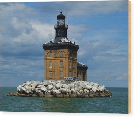 Toledo Harbor Lighthouse Wood Print