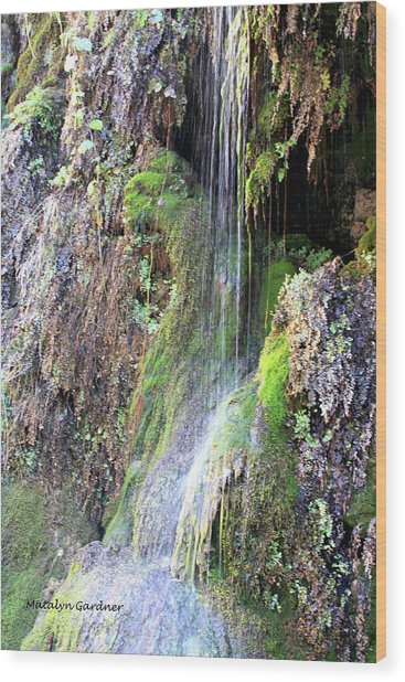 Tonto Waterfall Cave Wood Print