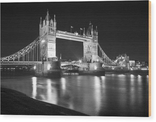 Tower Bridge On The Thames London Wood Print